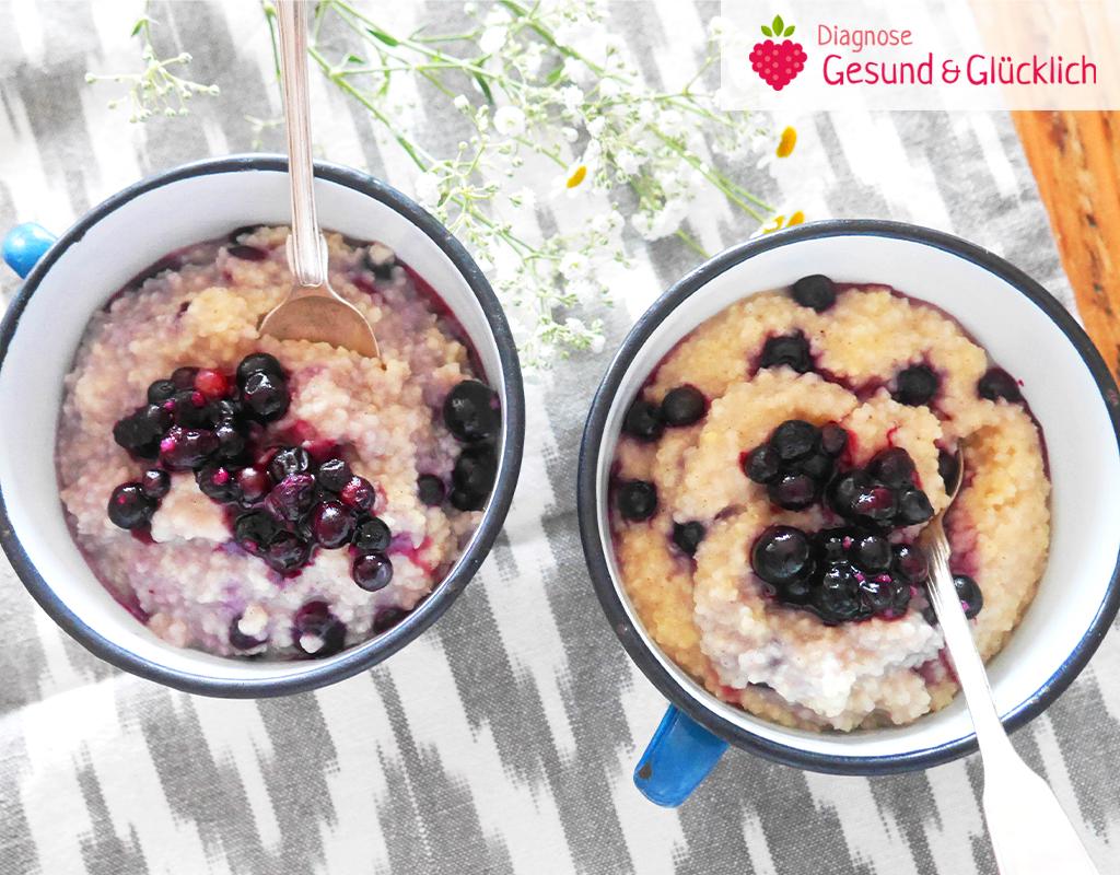 Hirsebrei für das Basen Frühstück - Diagnose gesund und glücklich