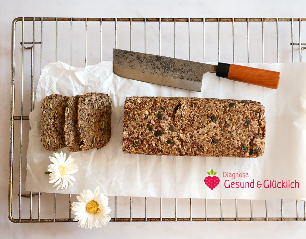 Glutenfreies Körnerbrot, ohne Mehl - Diagnose gesund und glücklich